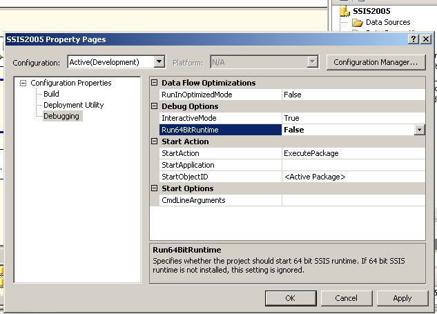 FAQ - How to run SSIS Packages using 32-bit drivers on 64
